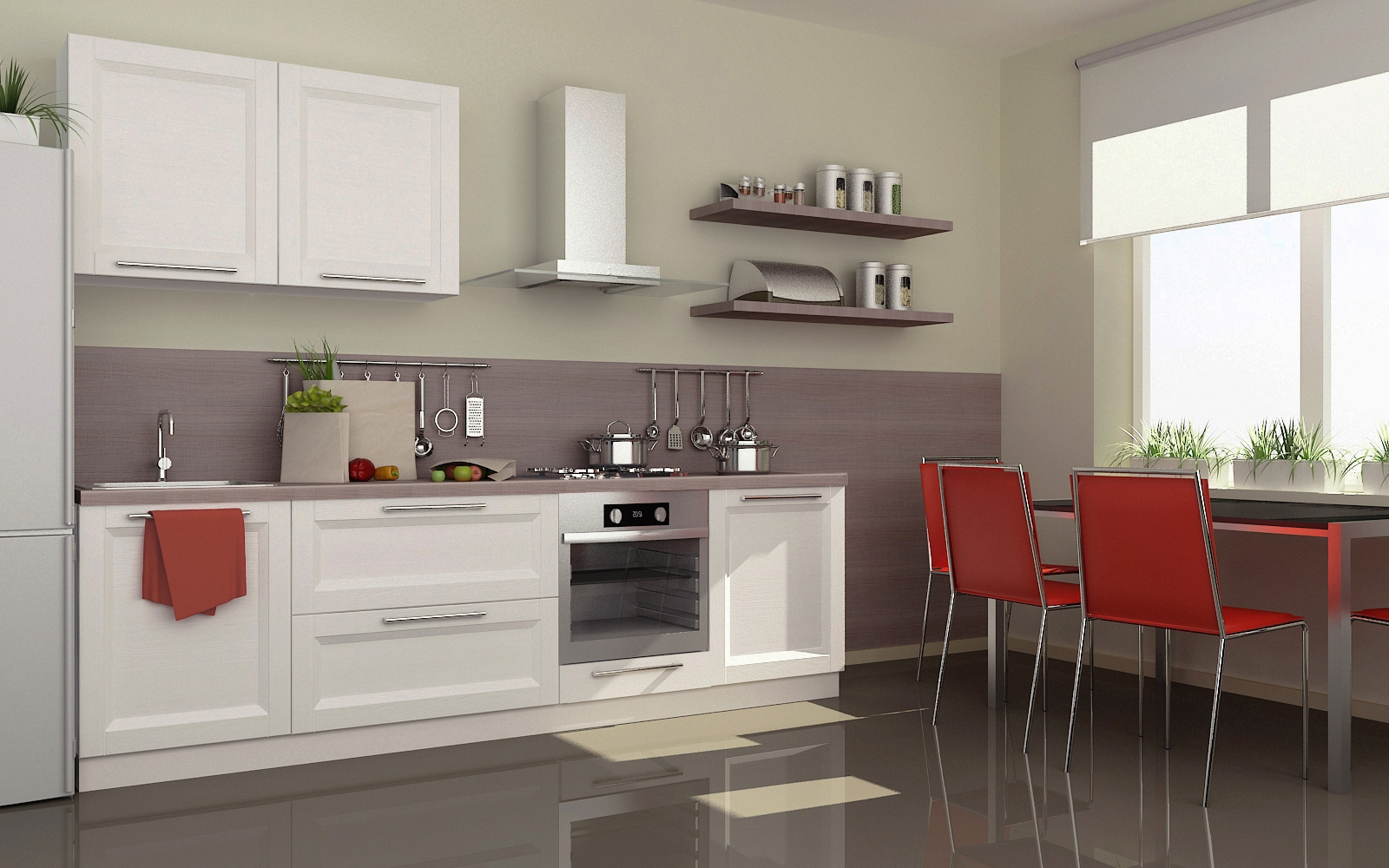 Дизайн рамочных кухонь