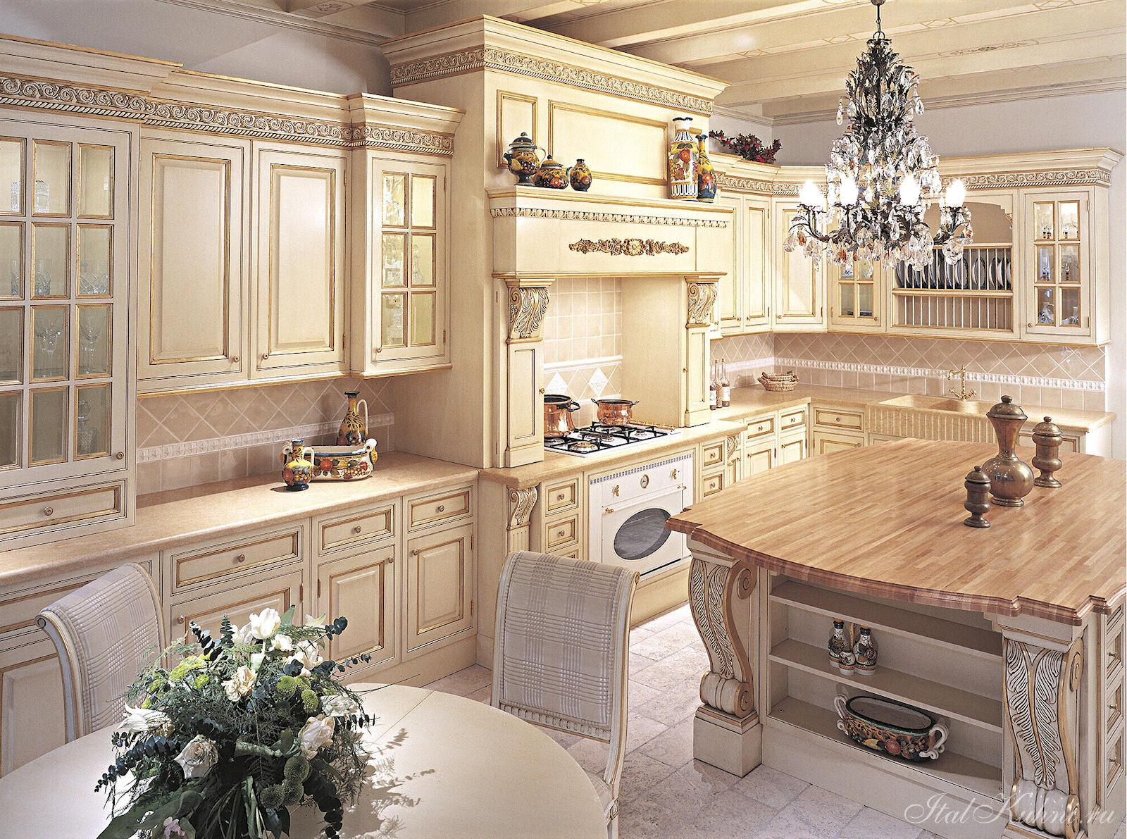 дерева из классической фото кухни